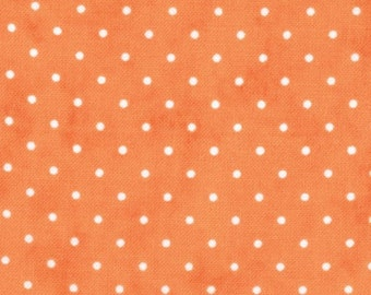 MODA-Essential Dots in tangerine orange