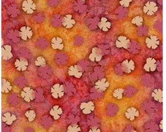Serenity-clover on terra cotta-nature fabric-Clothworks