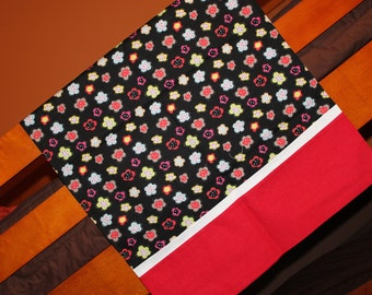 Black with Neon Flowers Pillowcase