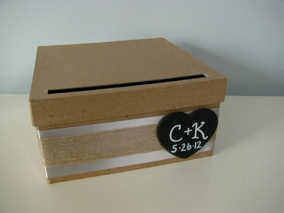 reserved listing etsy id allim4343 wedding card box 12 inch white ribbon with burlap overlay with white flowers and tag