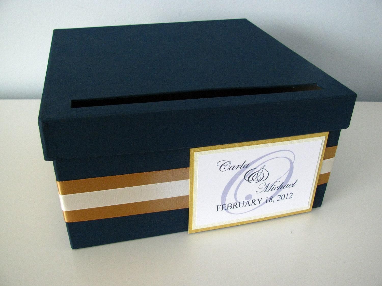 Modern Wedding Card Box Bridal Shower Engagement Anniversary