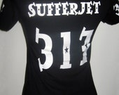 Customized roller derby scrimmage shirt with your name and number