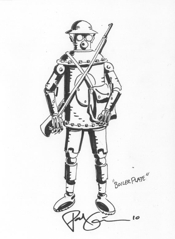Boilerplate sketch by Paul Guinan