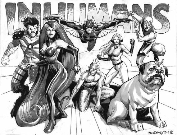 Ben Dewey sketch of The Inhumans
