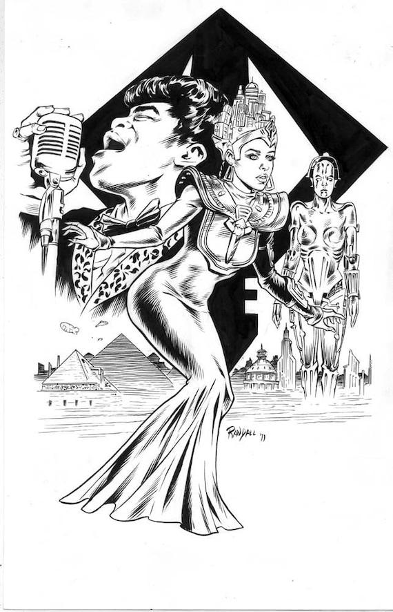 Janelle Monae - Original Artwork by Ron Randall