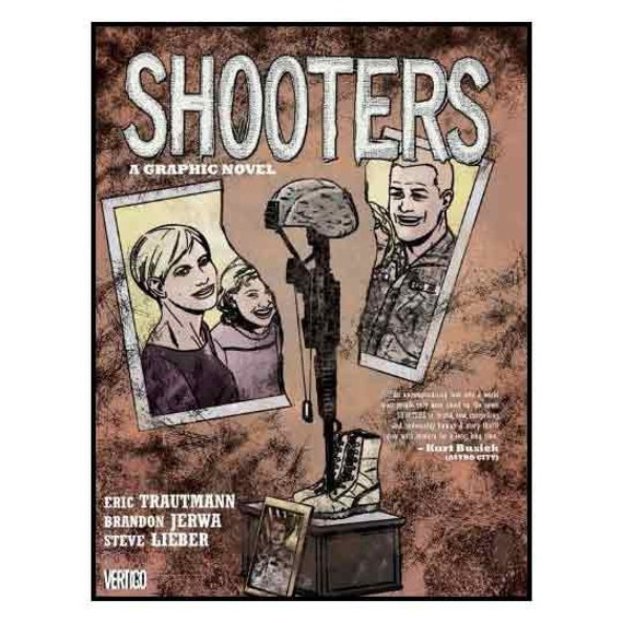 autographed SHOOTERS hardcover graphic novel,  illustrated by Steve Lieber, published by Vertigo,
