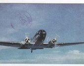 United Airlines Mainliner Plane Aircraft 1944 postcard
