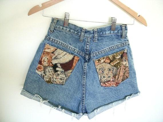 High Waisted Kitty Shorts