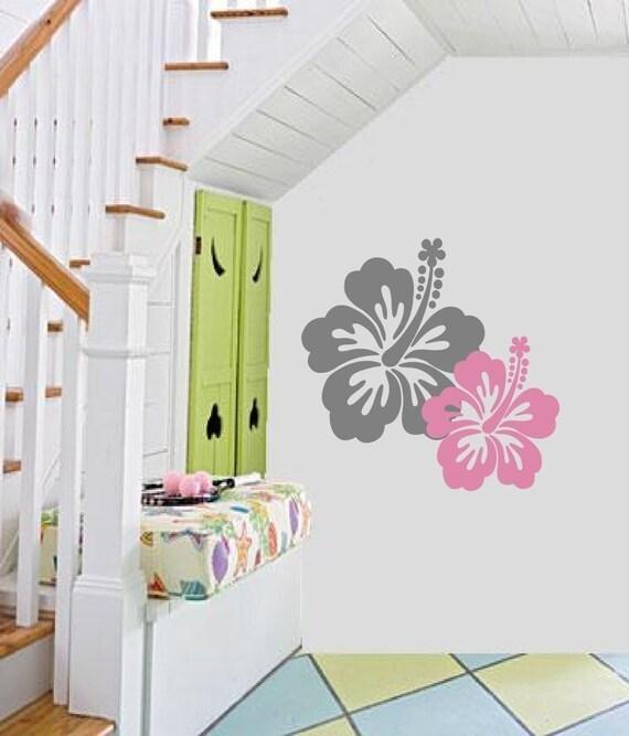 Items similar to nursery tropical flowers duo beach baby for Surf nursery ideas