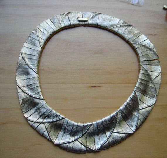 Vintage Cleopatra Egyptian Revival Collar Necklace