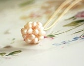Pearl is in the Air Necklace - In light Pink-RESERVED FOR LAURENA