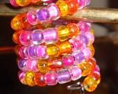 Pink Flower Hair Ornament / Pink Flower Ring / Pink Flower Lock Ornament