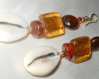 Golden Amber Earrings