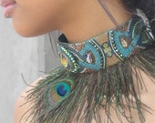 Art Deco Feathered Collar