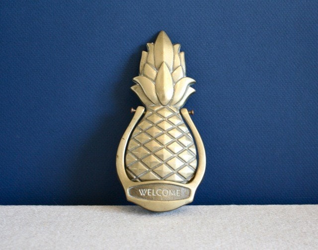 Vintage Brass Pineapple Door Knocker By Katiearmour On Etsy