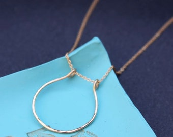 Horseshoe 14K Gold Filled Necklace