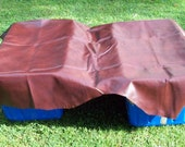 DR675  18 sq ft Brown Leather Cowhide