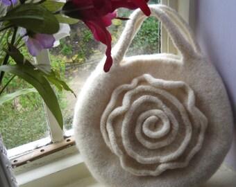 Bridal Rose Bag PDF Knitting Pattern