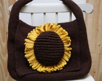 Sunflower Satchel - PDF knitting pattern