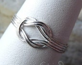 In Stock:  Double Love Knot Ring, Size 5.5, Sterling Silver