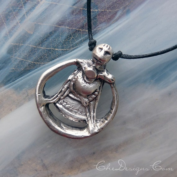 Freya / Freyja Goddess Sterling Silver Pendant, Ancient Design, Pagan, Norse