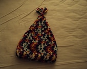 Crochet Cone Hat for Toddler in Varigated Primary Colors
