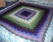 Crochet Bavarian Lavender Fields of Dream Afghan / Blanket
