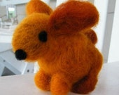 Bunners the Organic Wool Felted Brown Bunny