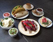 Cinco de Mayo Felt Food Pattern Special - Taco & Fajita Dinners - Felt Mexican Food PDF - DIY Felt Food