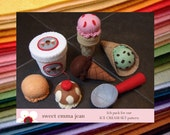 Felt Pack to make our Ice Cream Set