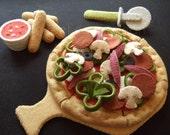 Felt Food Pattern - Felt Pizza Party Set - Pattern PDF - DIY Felt Play Food