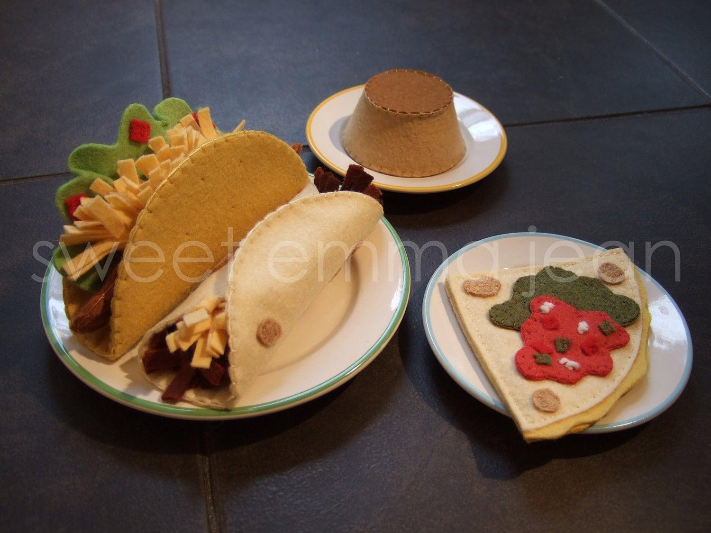 Felt Food Toys R Us : Felt play food pattern taco dinner mexican pdf