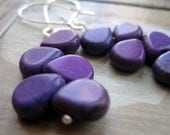 Dark Purple Magnesite Earrings - Harvest