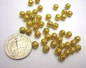 Destash 40 pcs Gold Tone Filigree Spacer Beads 6mm