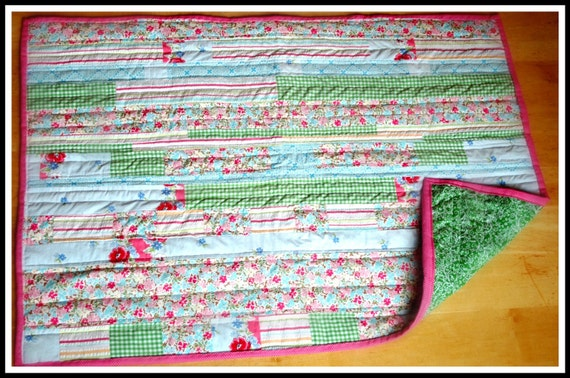 WINTER SALE: Upcycled Baby Quilt...Just Reduced for the holidays....