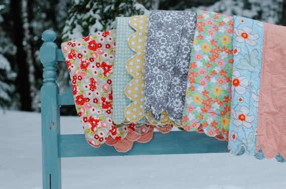WINTER SALE: Just Reduced for the holidays....100% Cotton Baby Quilt-- Ready to Ship