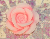 SALE Soft Pink...set of 6...top quality perfect size 20 MM Flower Open Rose....great UNIQUE style...