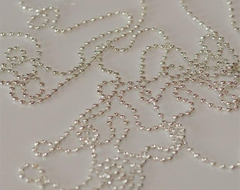 Set of 10.... 18 Inch Silver Plated Ball Shiny 2.4mm balls chain necklace