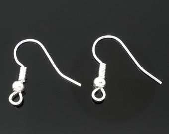 Set of 20.... Silver Ear Wires...for Crystals or Charms 18mm x 19mm