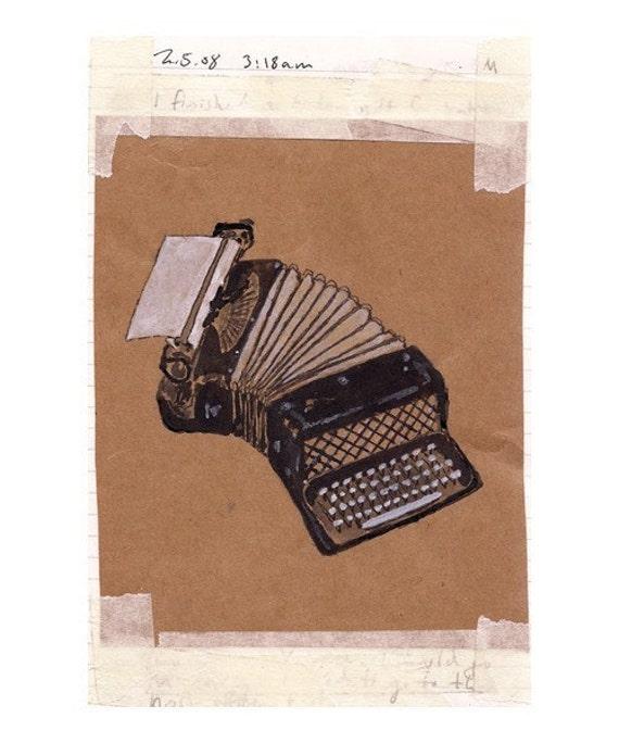 accordion typewriter (5 x 7.5 Print)