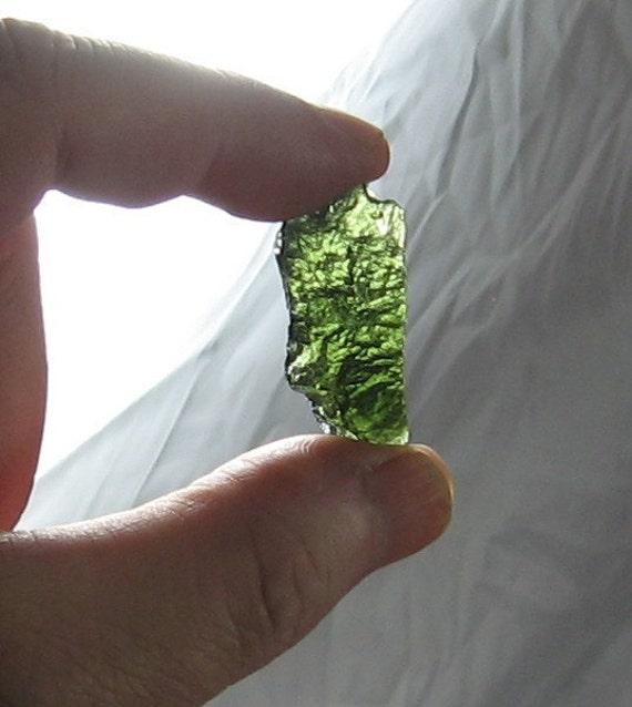Rare Moldavite Tektite Specimen   MD09