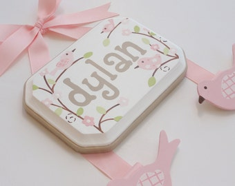 Hand Painted and Personalized Hair Bow Holder - 5x7