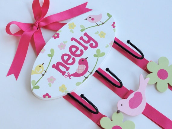 Hand Painted & Personalized hair bow and headband holder