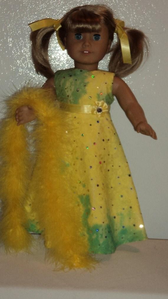 American Girl doll clothes - Tye Dye Lace Gown -  SALE