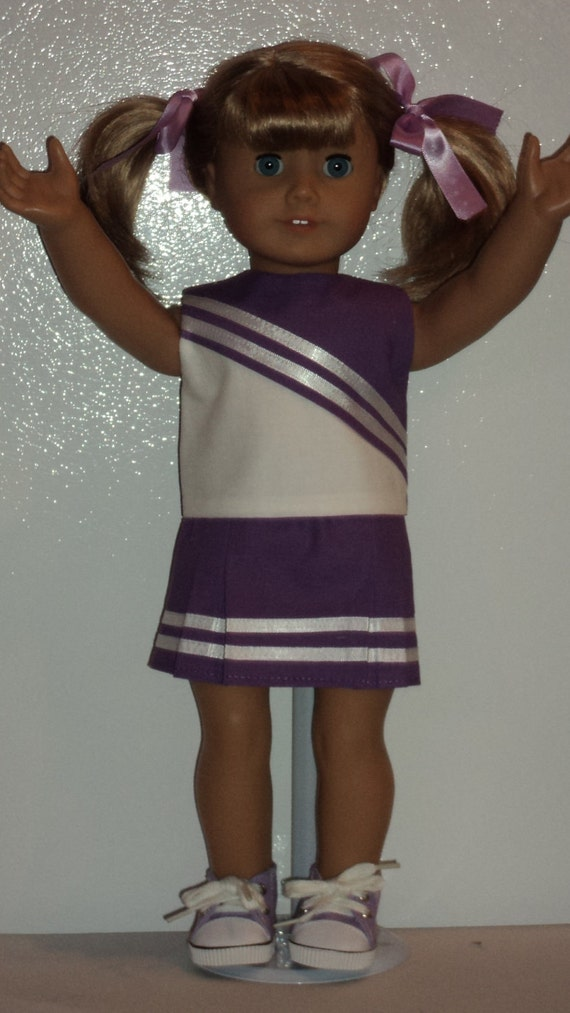 American Girl doll clothes -Purple Cheerleader Outfit