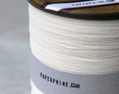 Finest White Paper Yarn on a Vintage Bobbin (1200 yards)