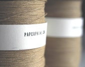 Finest Natural Paper Yarn on a Vintage Bobbin