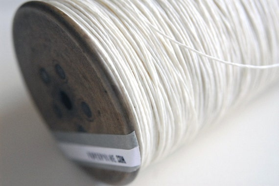 Paper Yarn - Strong White Paper Twine on a Vintage Bobbin - DIY, Knit, Crochet, Craft - Handwash