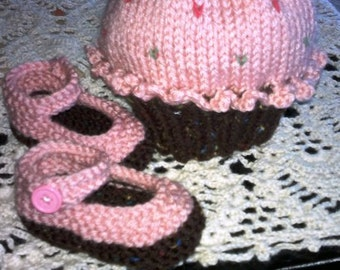 strawberry cupcake hat