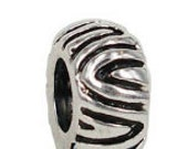 AFRICAN PRINT Sterling Silver European Charm Spacer Bead